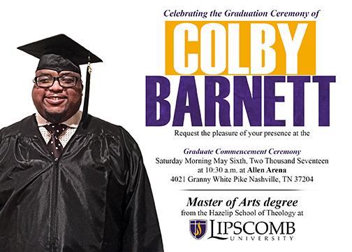 Copy of Colby Barnett Graduation Invitation
