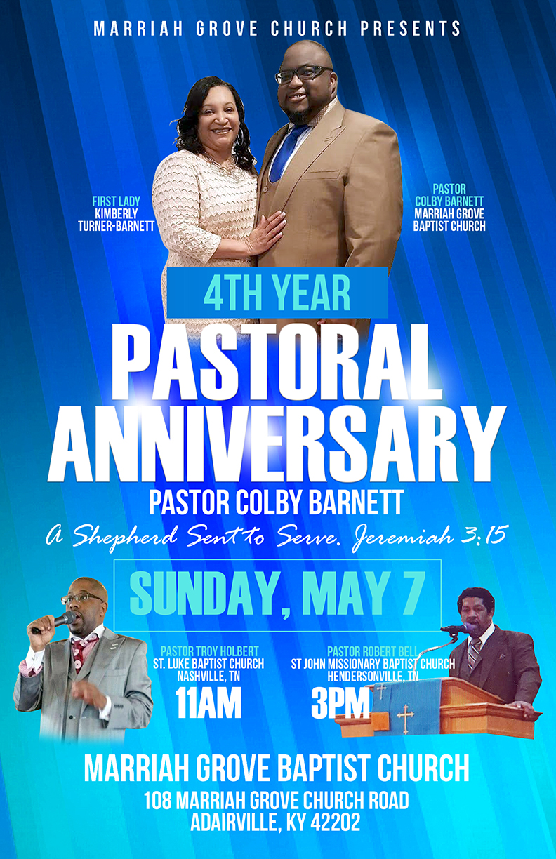 Copy of 4th Year Pastoral Anniversary flyer
