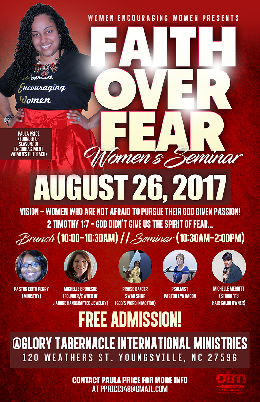 Copy of Faith Over Fear Seminar flyer