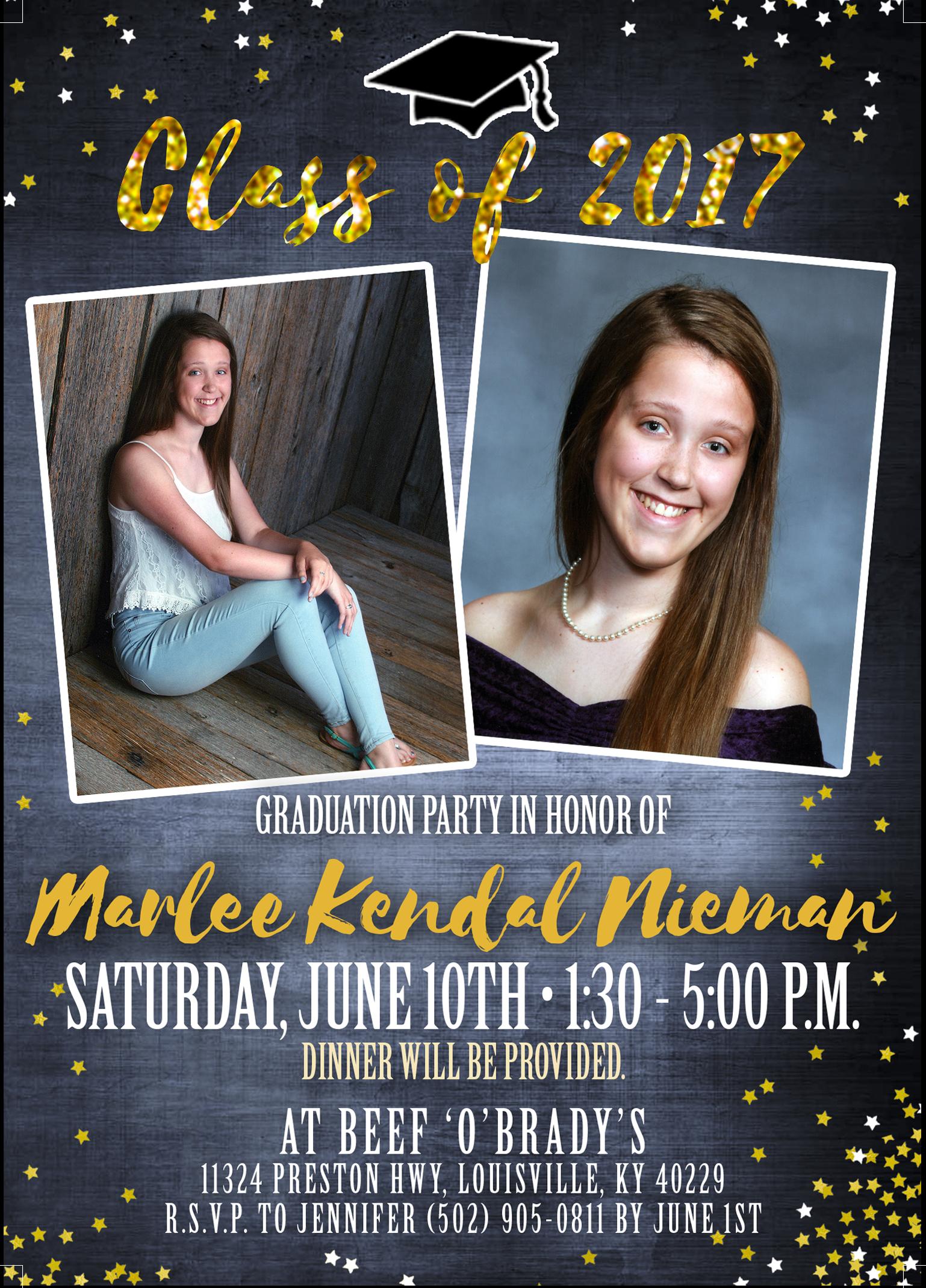 Copy of Marlee Graduation Party flyer