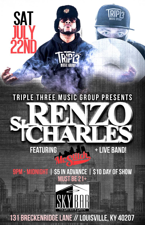 Copy of Triple Three Renzo & Mr. Stitch concert flyer