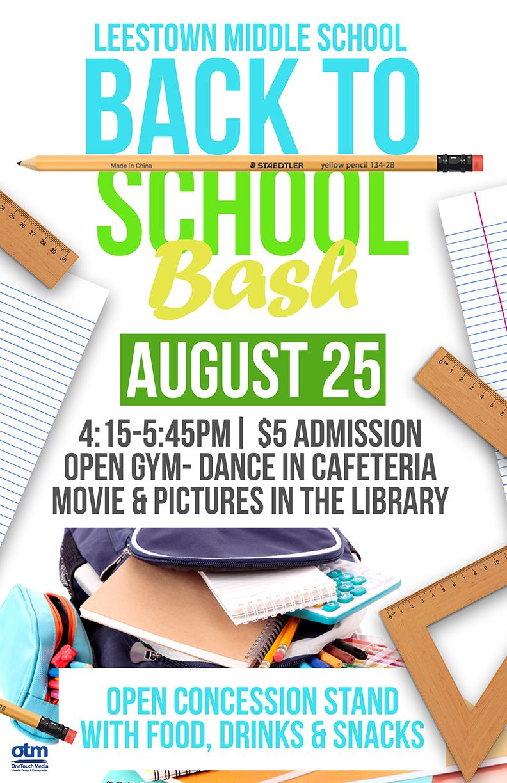 Copy of Leestown Middle School Back to School Bash flyer