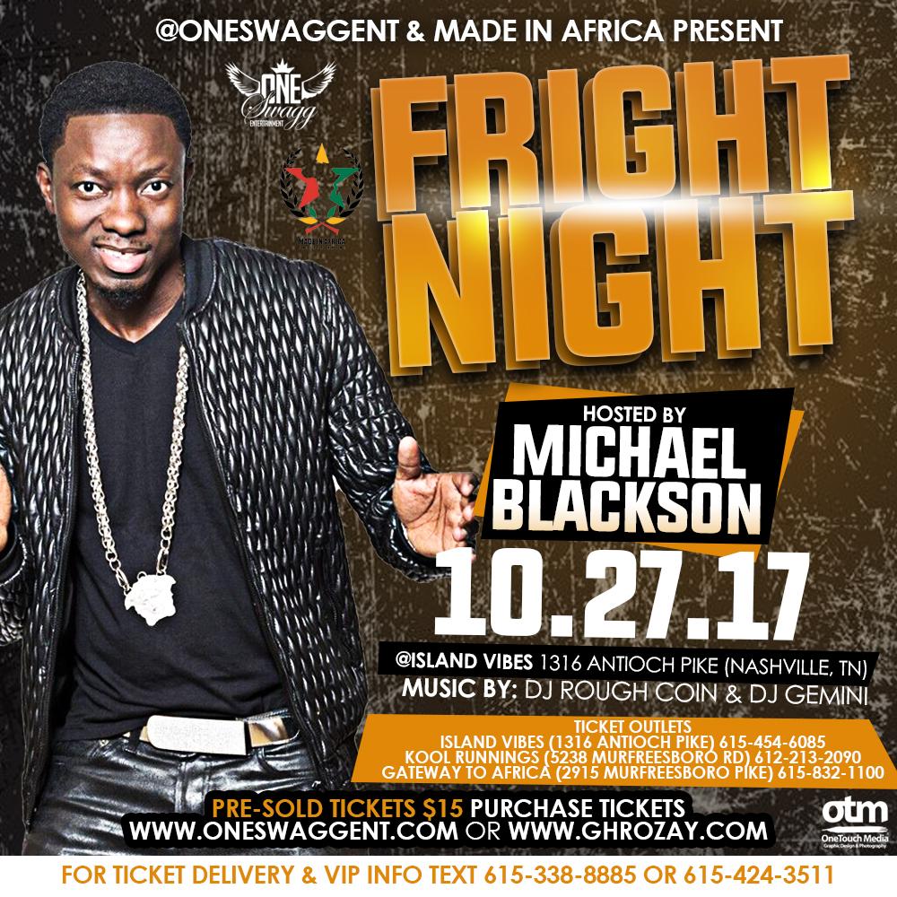 Copy of Fright Night flyer ft. Michael Blackson