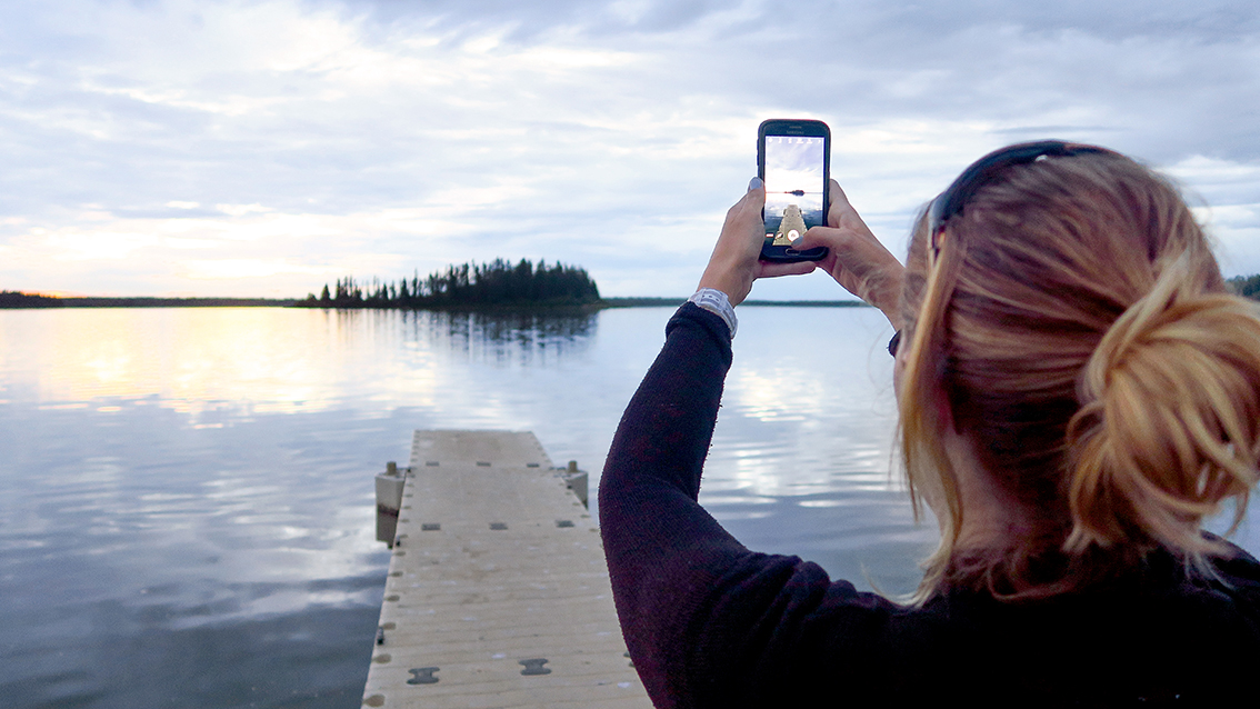 Me shooting the great scenery at Elk Island. That cool jetty shot heey...