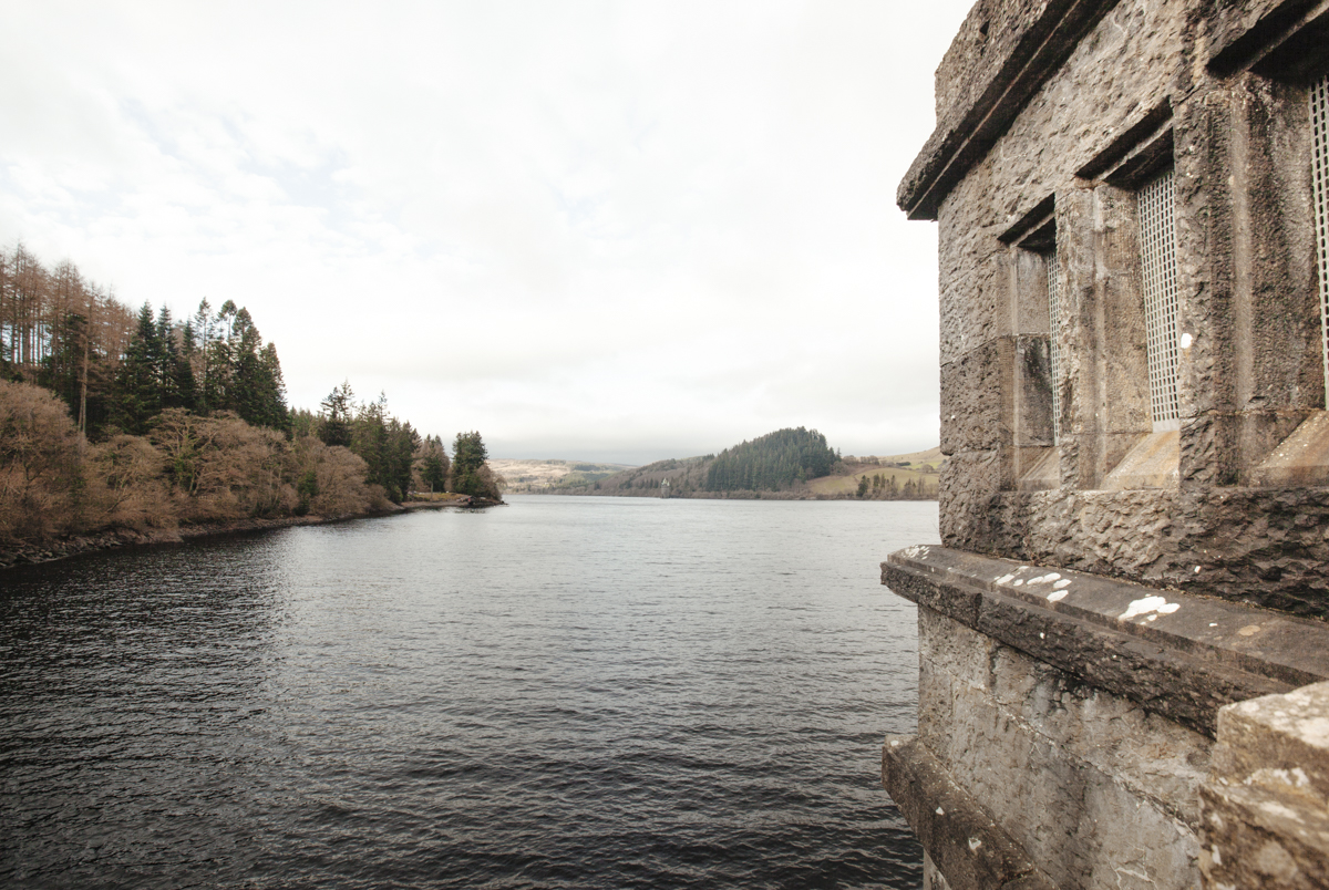 View from the dam at Lake Vyrnwy, Wales.