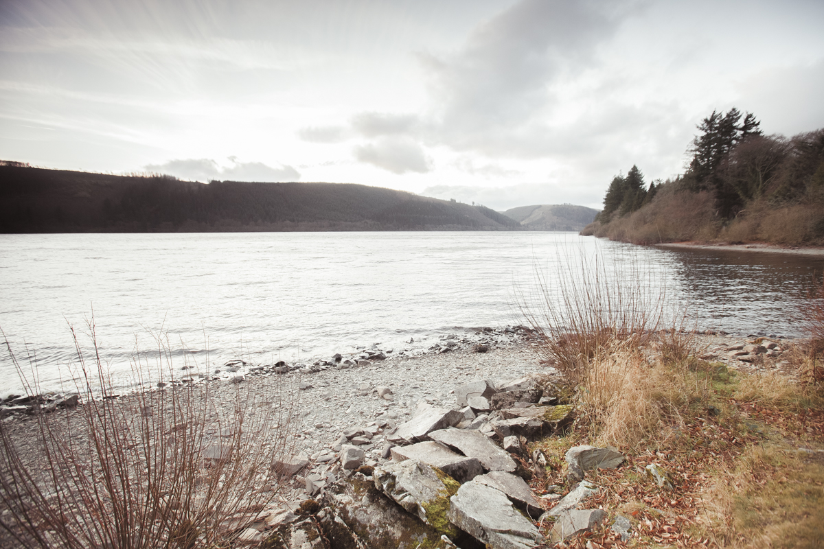 By the shores of Lake Vyrnwy, Wales.