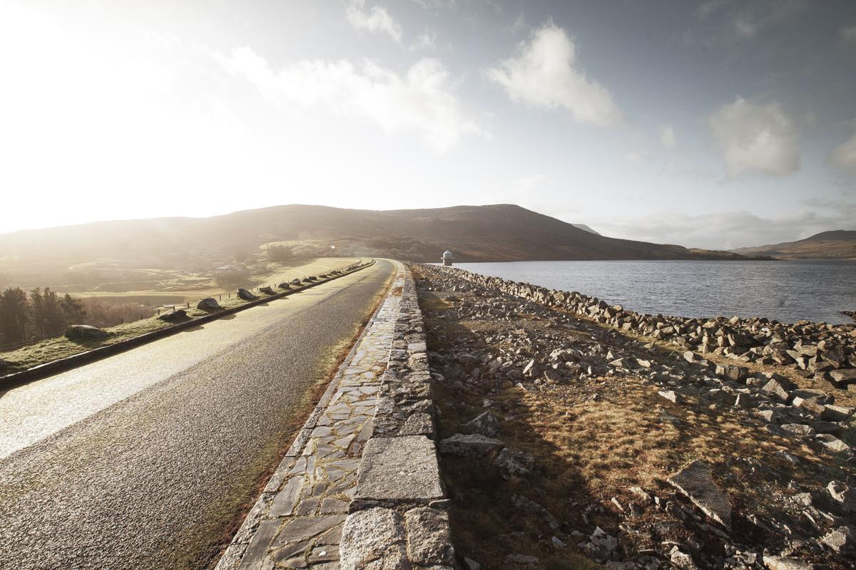 The Afon Tryweryn Dam.