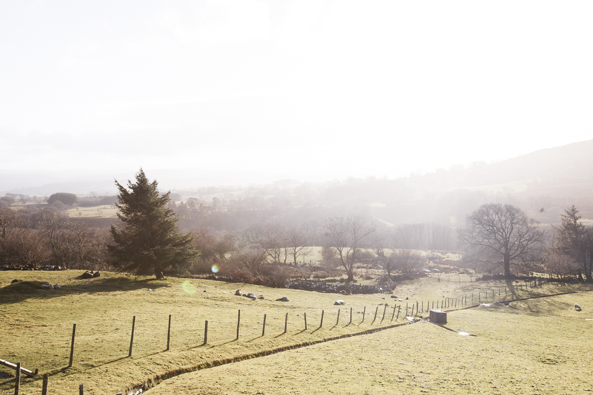 Sunny views over the Welsh valley.