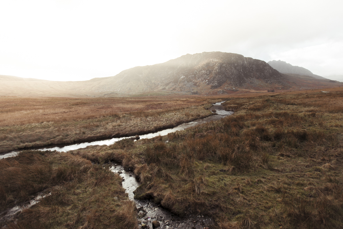Snowdonia views. Towards the Ogwen Valley, Wales.