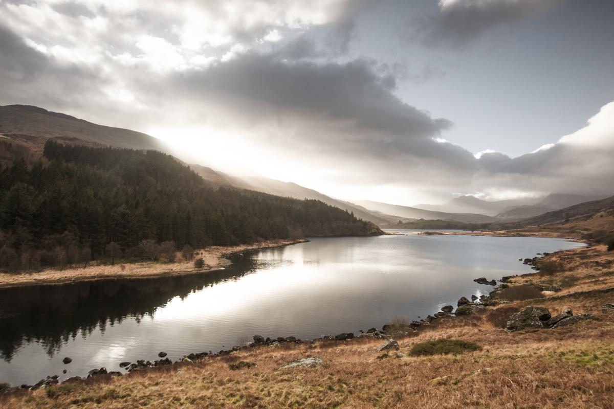 Llynnau Mymbryr in it's shining splendour.