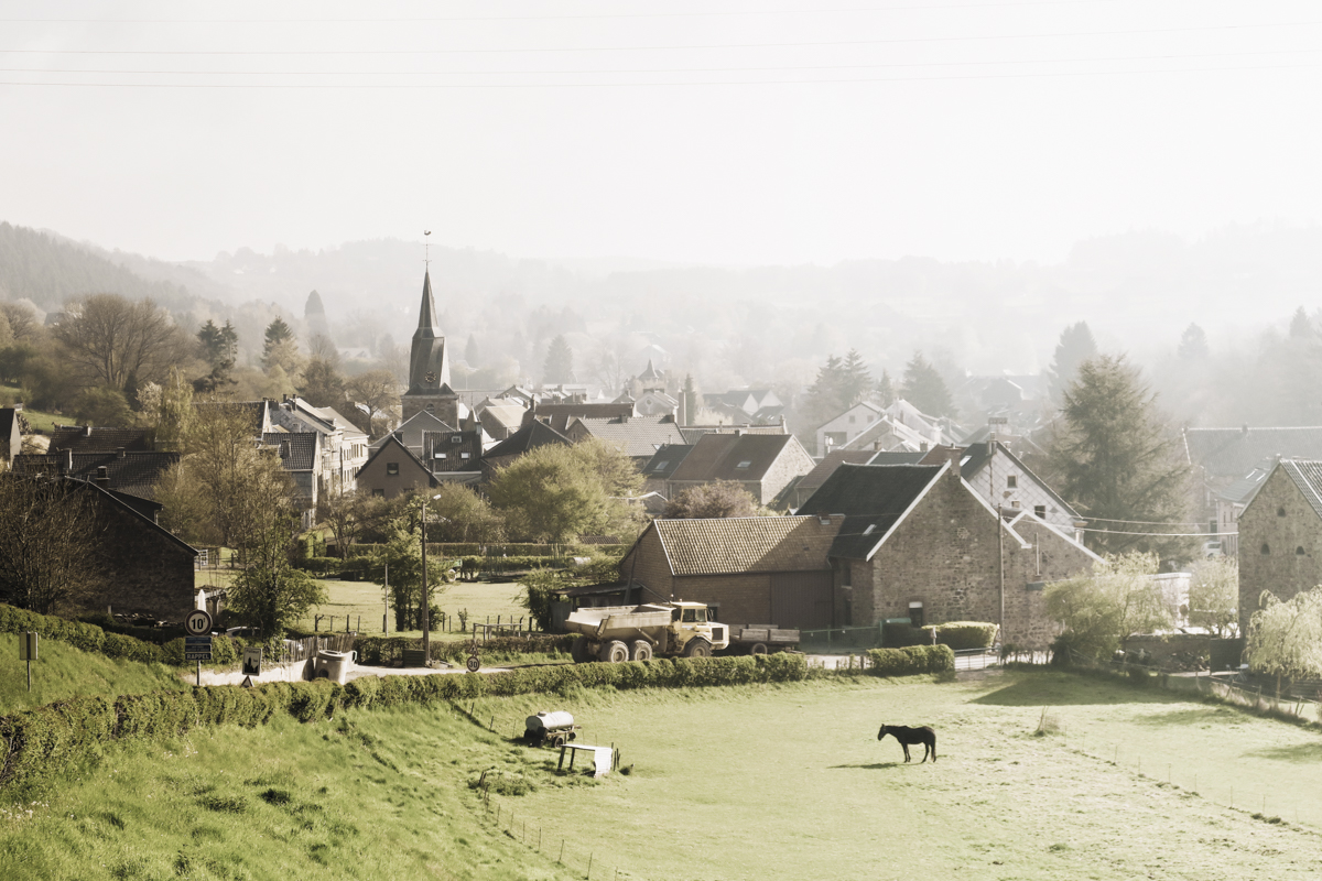 The views on the sweet village of Polleur in Liege.