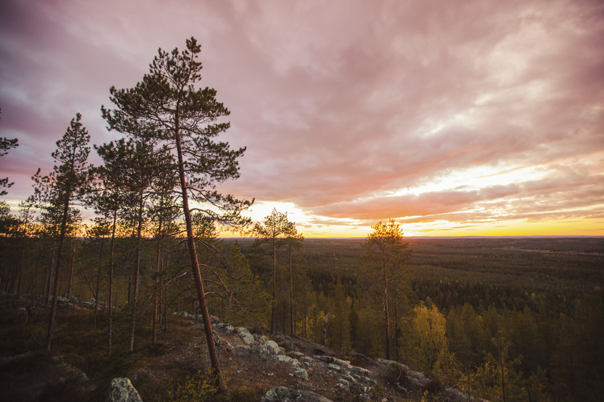 Watching the sunset and sunrise on Vitberget