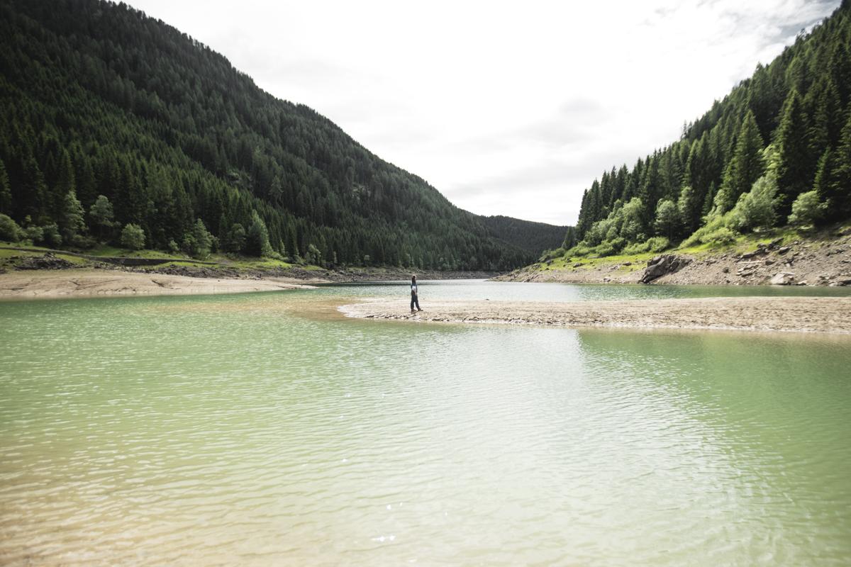 Paneveggio Lake in San Martino Natural Park.