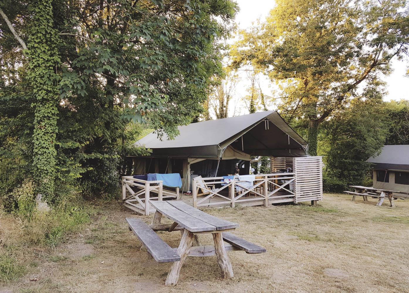 The Archipel Safari tent.