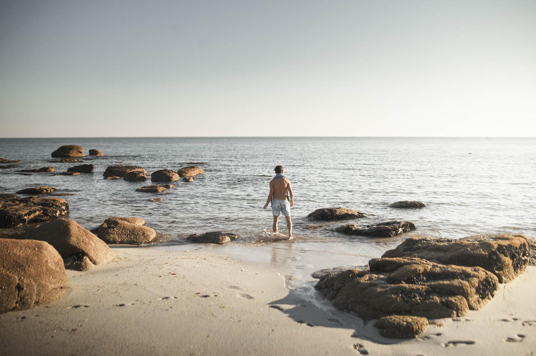 Gone for a swim on Beg Meil beach.