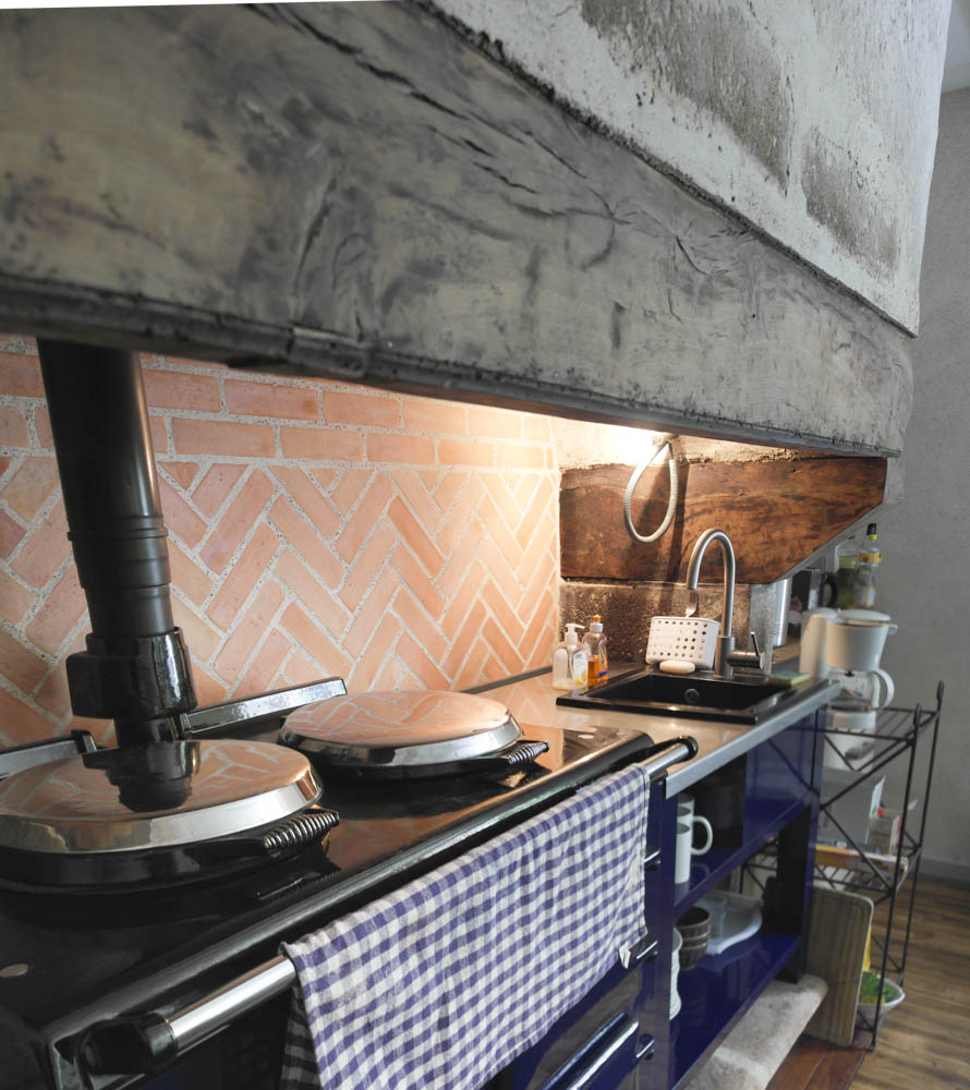 This authentic kitchen stove is free to use.