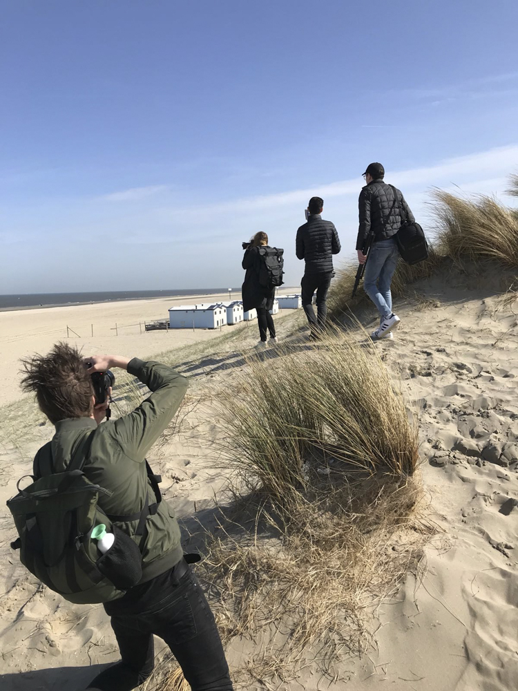 I love the dunes and the light contrasts that can be displayed here. In the meantime talented photographer  Jurriaan Huting  was capturing my portrait.