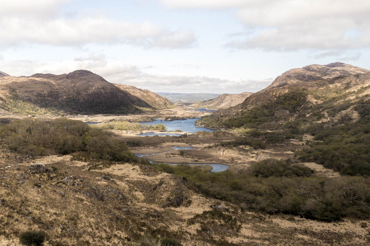 Ladies View. One of Irelands best known panoramas, in the heart of Killarney National Park