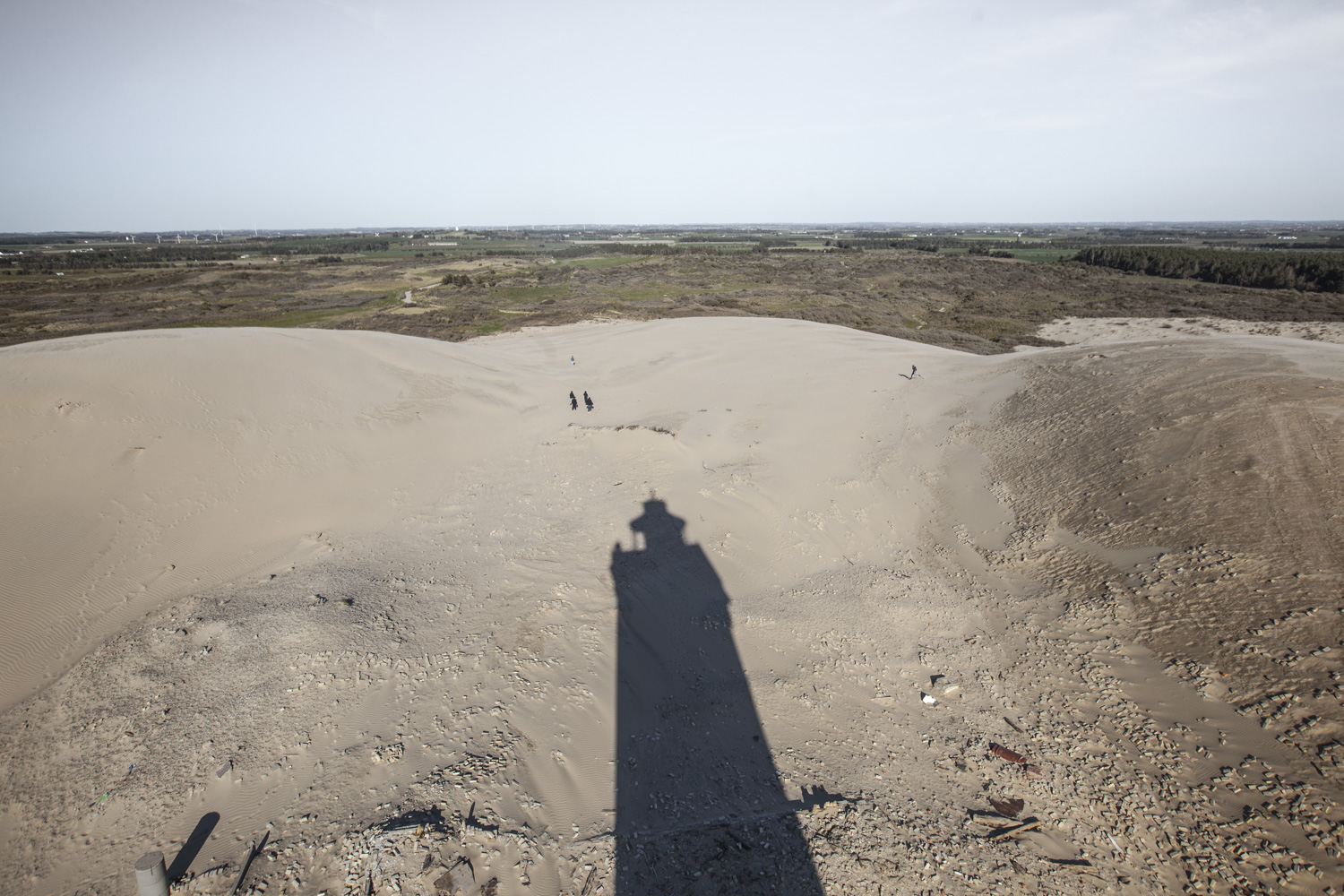 View from the lighthouse, looking east
