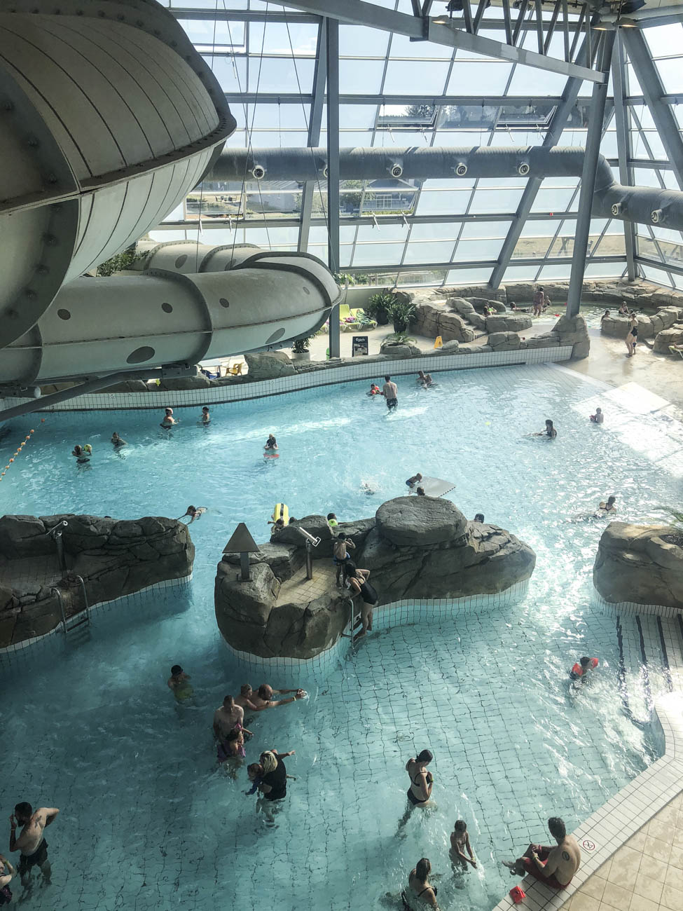 This water park features Denmark's longest water slides with light and sound effects and has a fantastic wave pool!