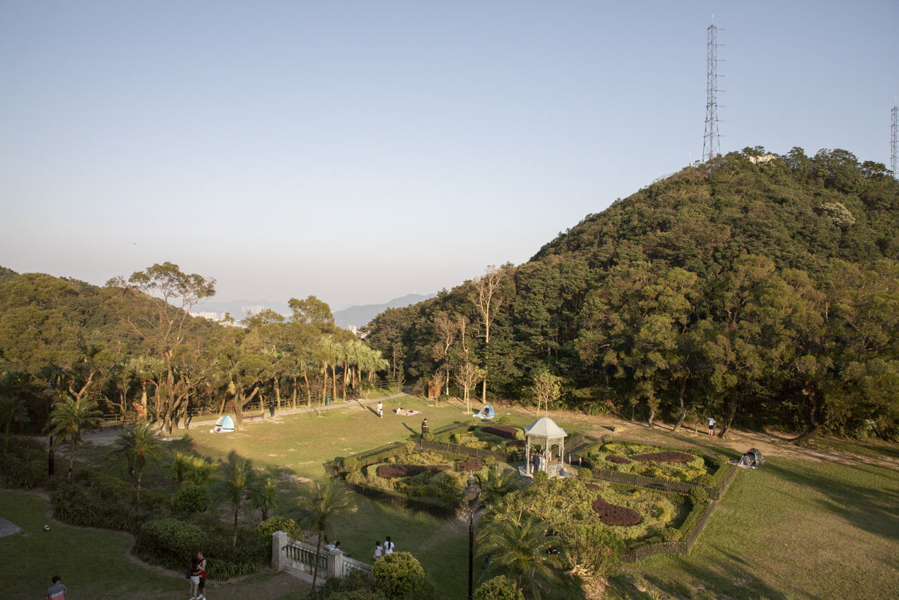 The tranquil Victoria Peak Garden on the summit