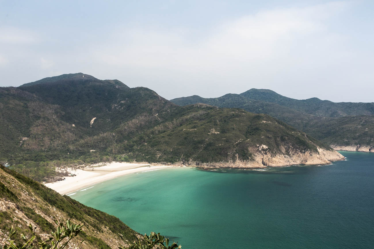Long Ke Wan beach in Sai Kung, with its crystal clear waters