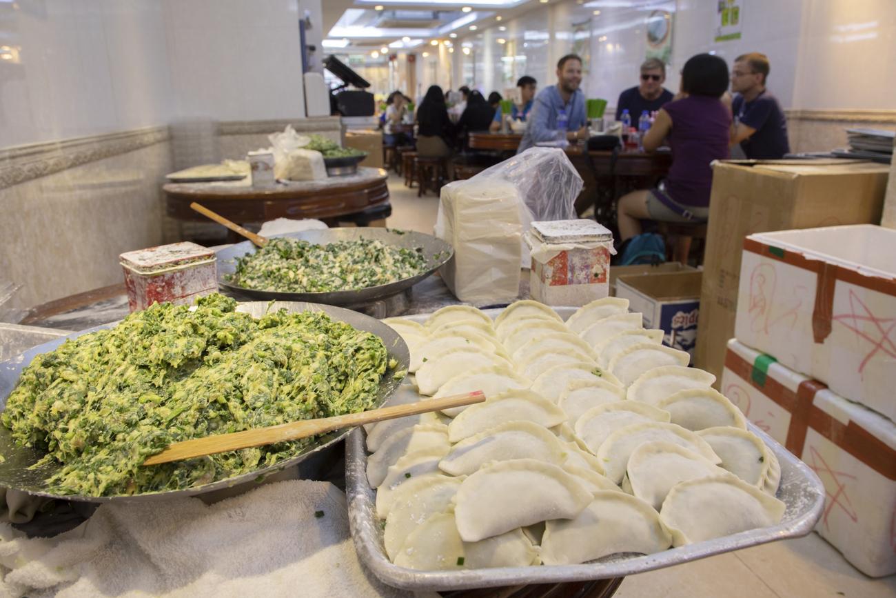Handmade northern dumplings at the Dumpling House.