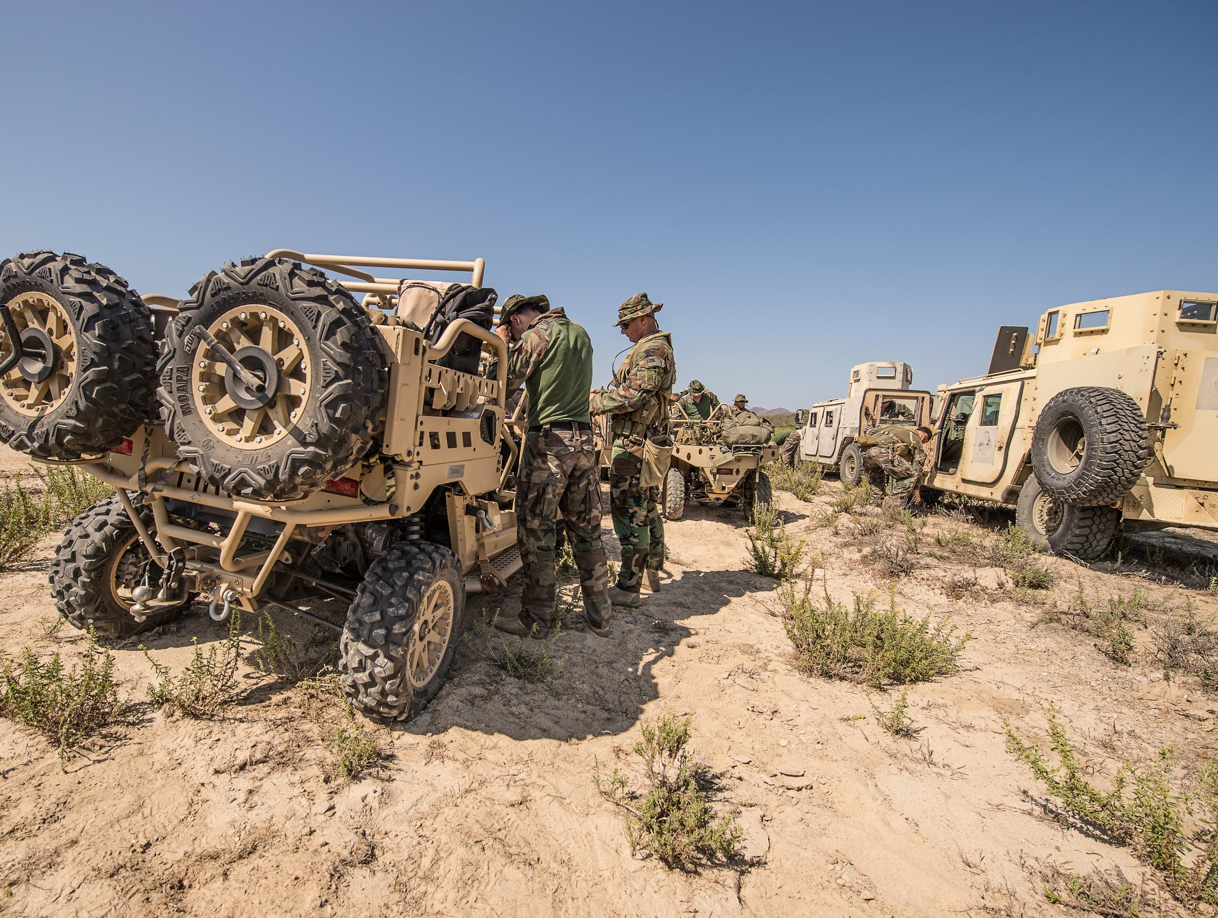 1st Marine Raider Battalion conducts ground training at Camp Pendleton. August, 1015. Photo by Rhett Stansbury
