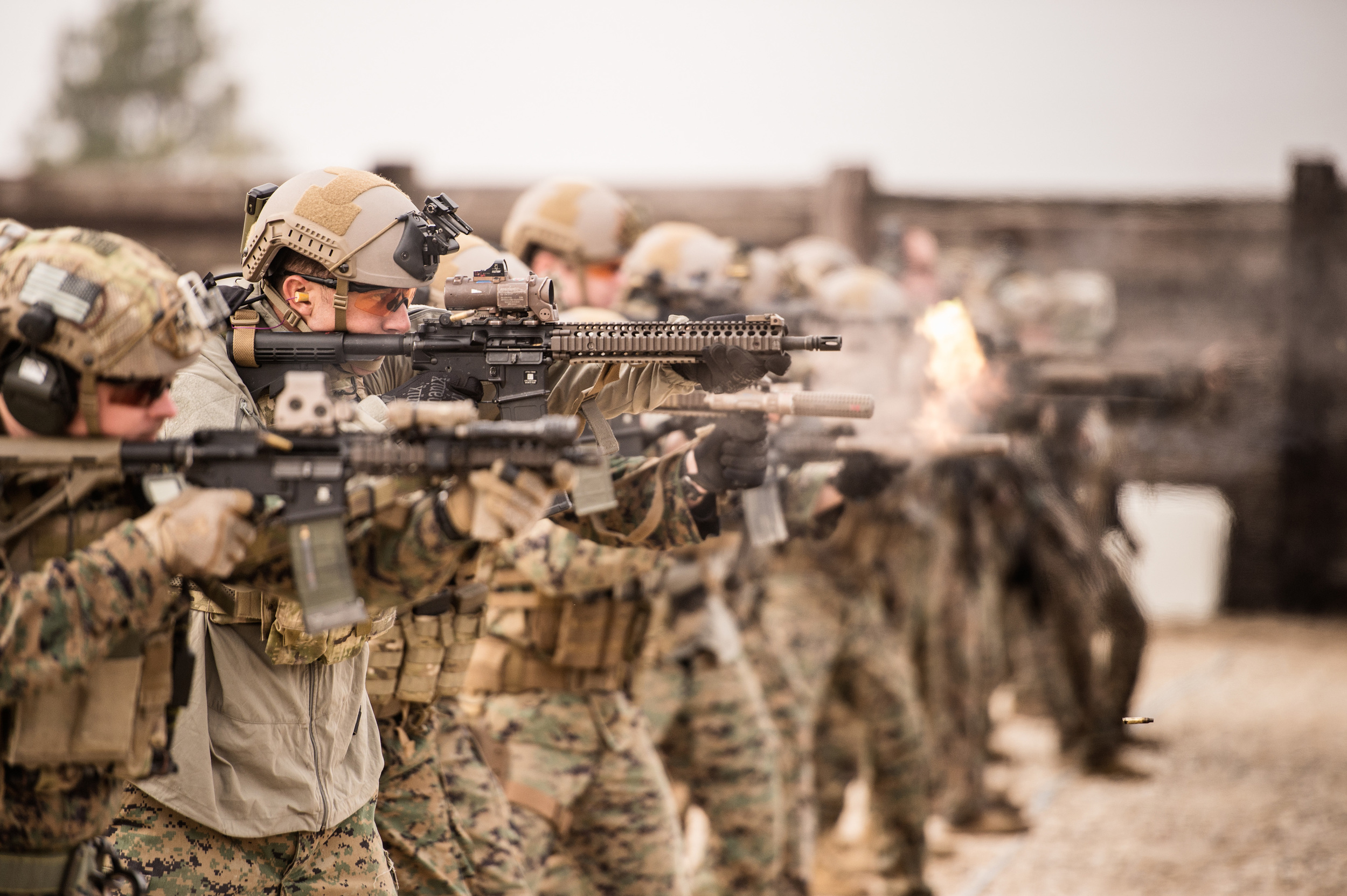 Marine Raiders conducting tactical vehicle and weapons training. December 2015. Photo by Rhett Stansbury.