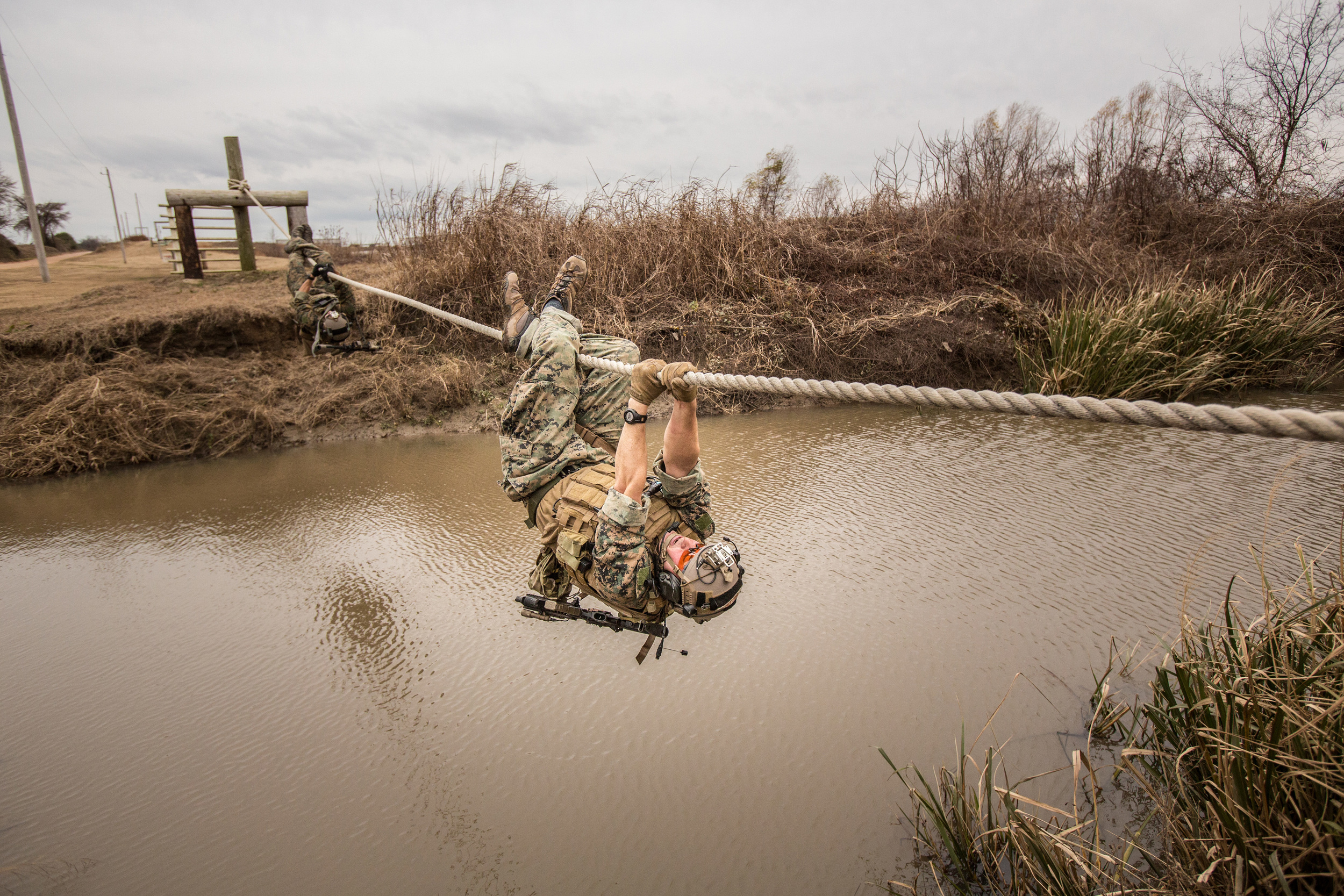 Marine Raiders conducting tactical vehicle and weapons training. December 2015. Photo by Vance Jacobs.