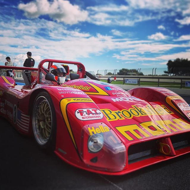 Well if you absolutely have to, must, miss Goodwood... then this makes up for it 100 times over. This is the Sebring and Daytona winning Ferrari 333sp. . . . #ferrari #333Sp #Momo #racecoach