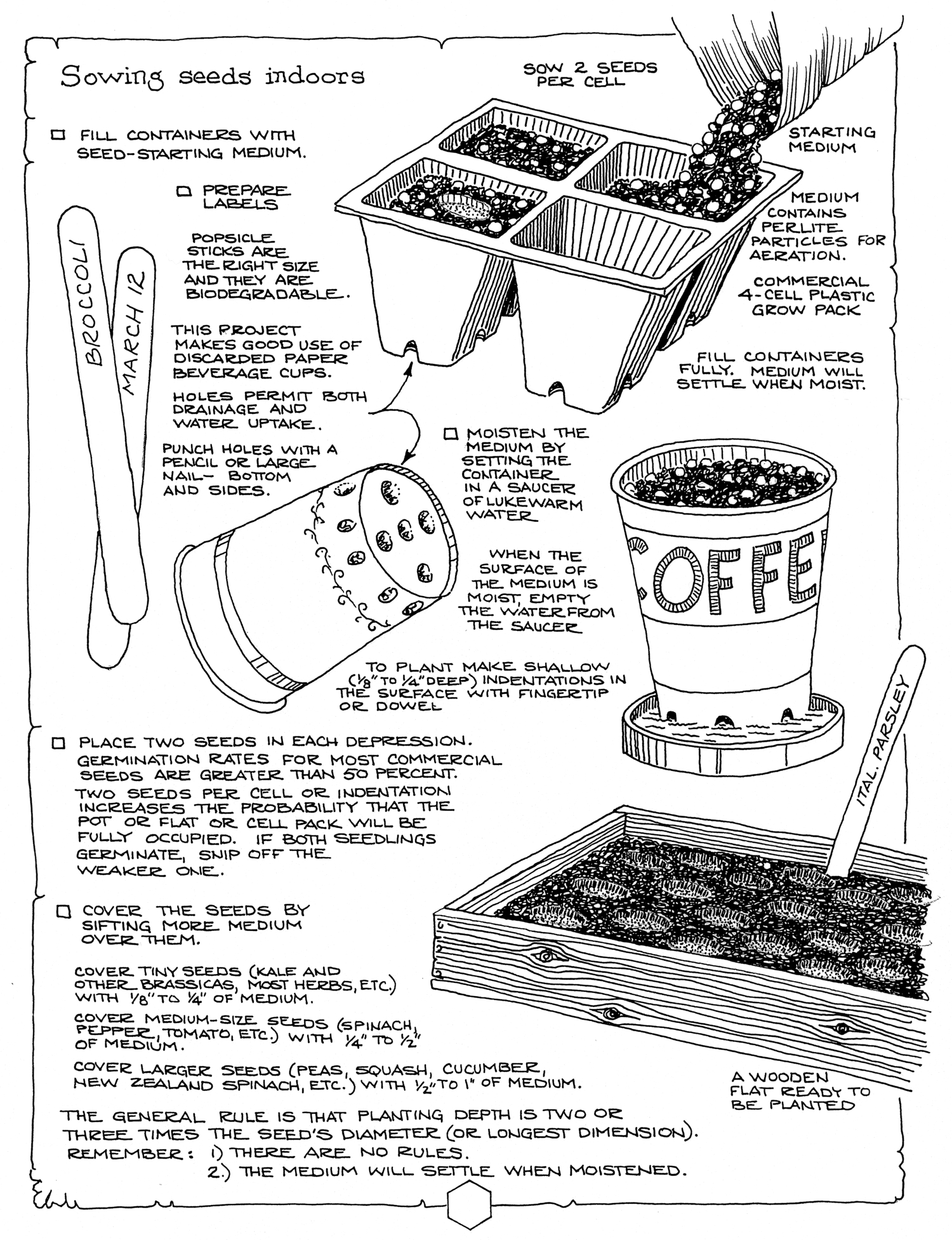 Sample page from Gardening Methods: Sowing Seeds Indoors