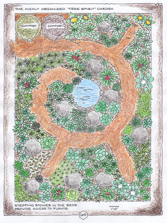 """Free Spirit Garden"", colored-in version, © Fred Montague"