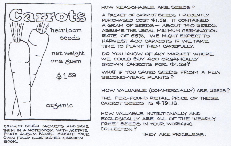 Carrots, an excerpt from  Gardening--An Ecological Approach .  © Fred Montague