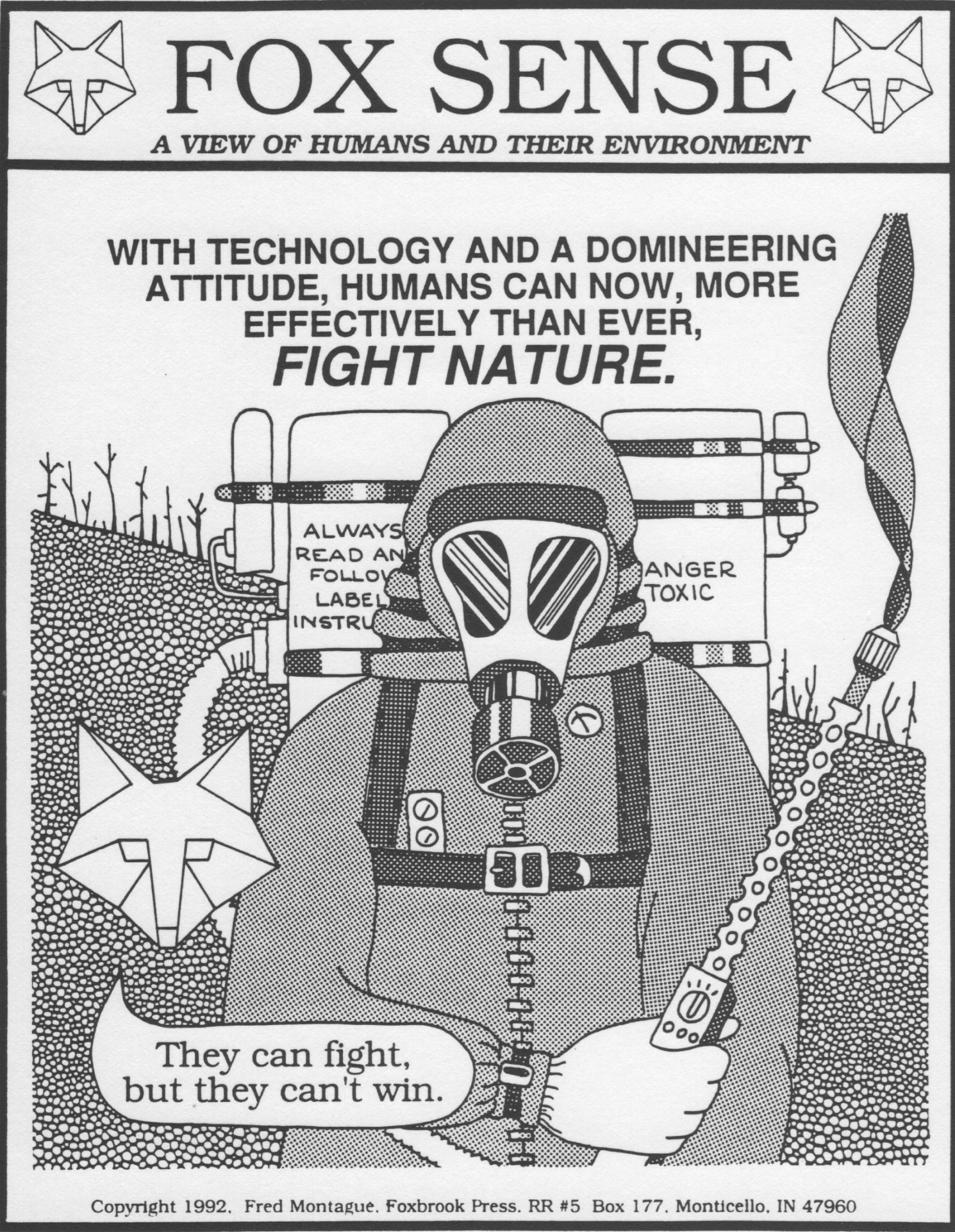 """Fighting Nature"" from Foxsense. © 1992 Fred Montague"