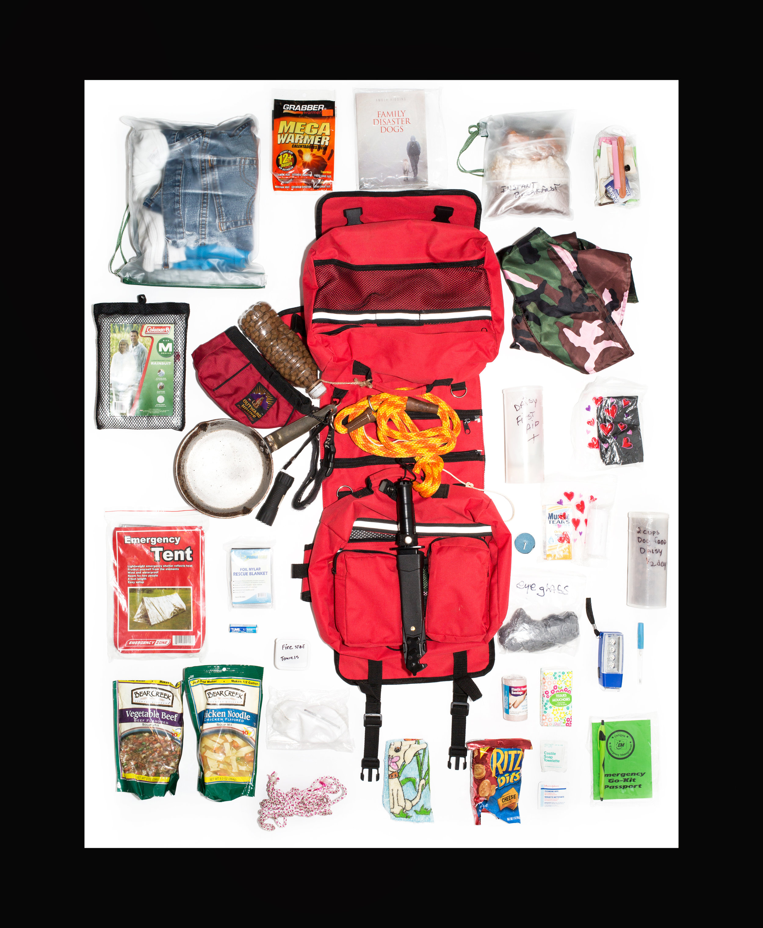 Disaster Dog Daisy's Bug Out Bag