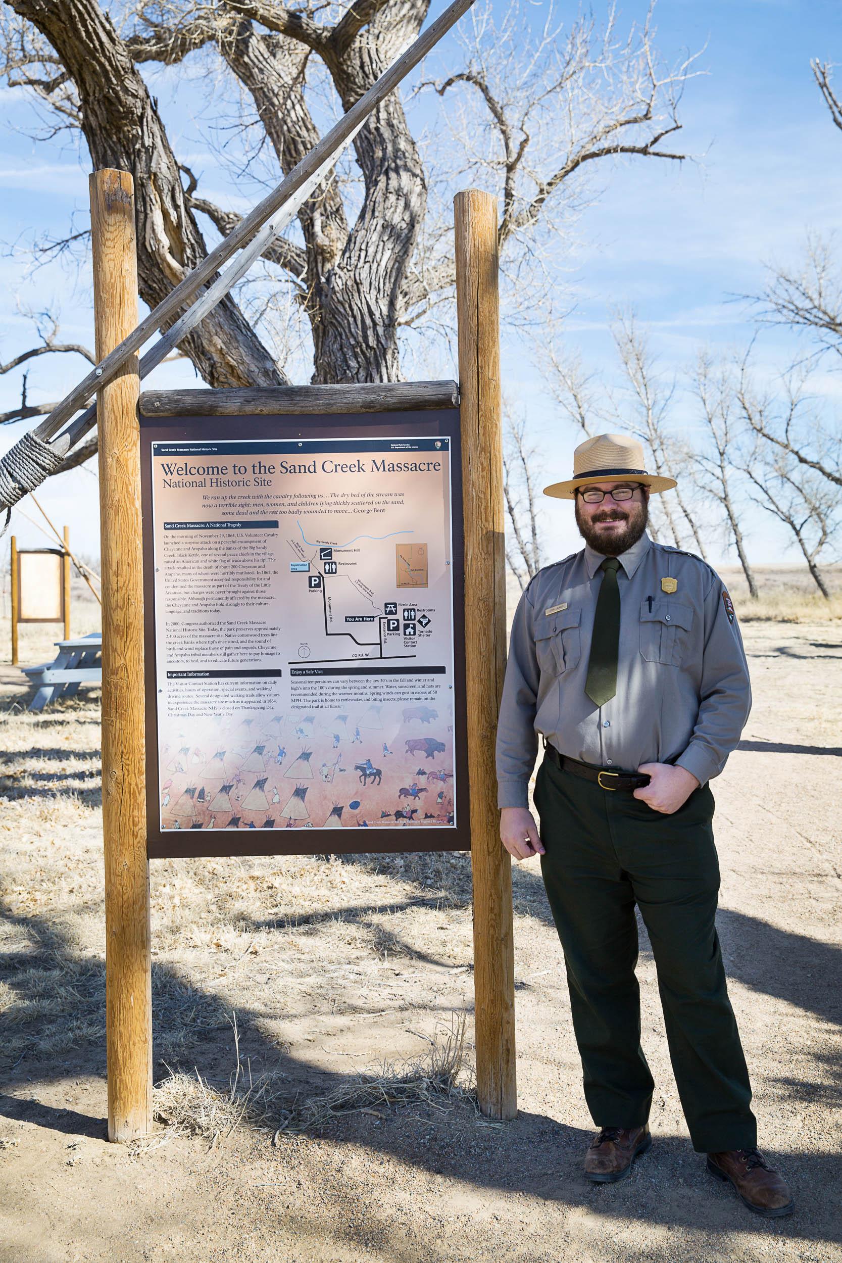 Ranger John Launius, National Historic Site of the Sand Creek Massacre, Colorado