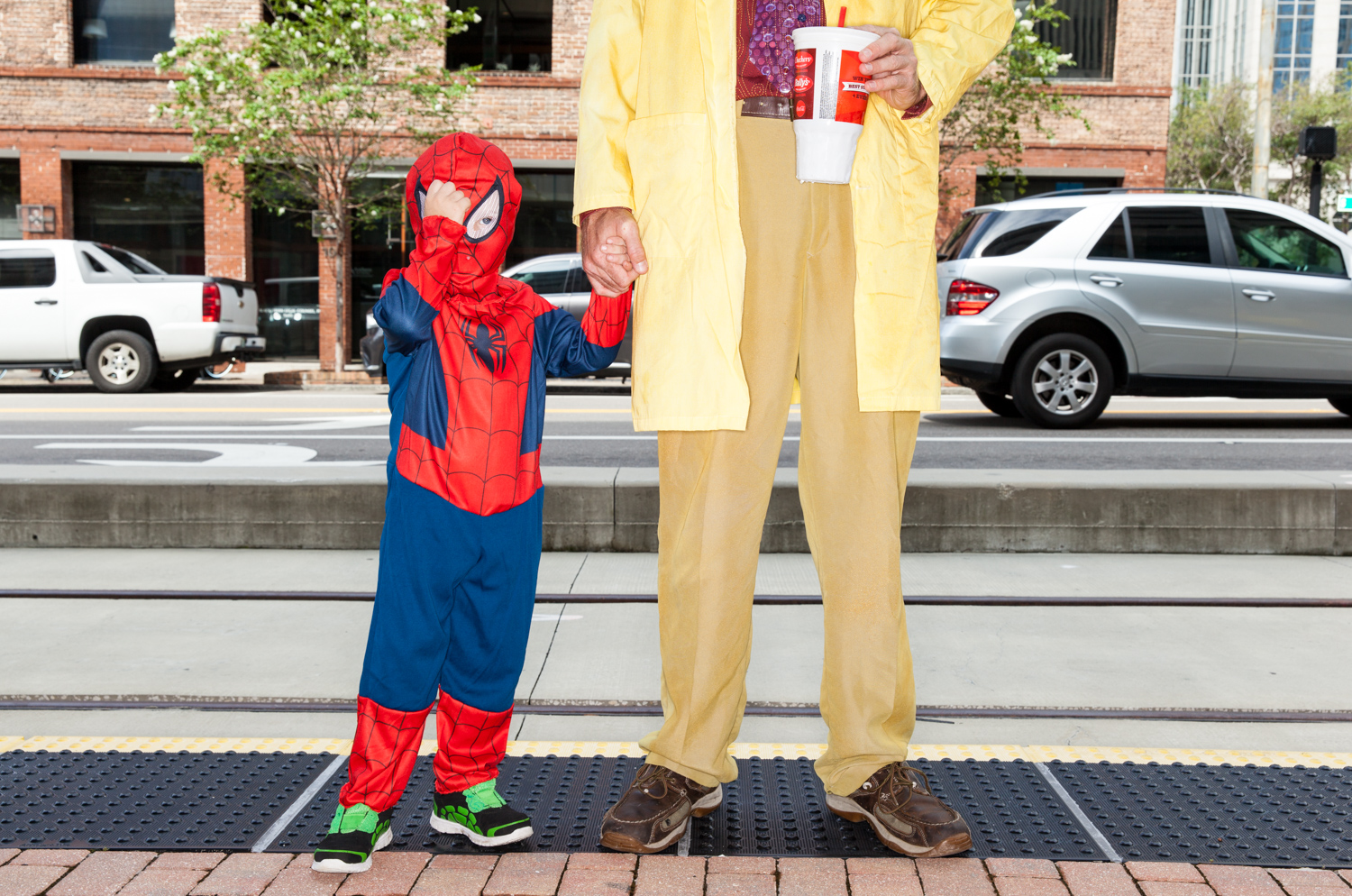 Copy of spiderman child comic con san diego california portrait