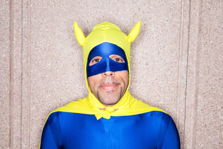 banana man comic con portrait editorial