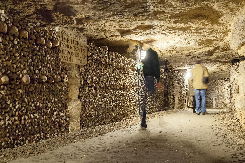 Catacombs paris france bones travel