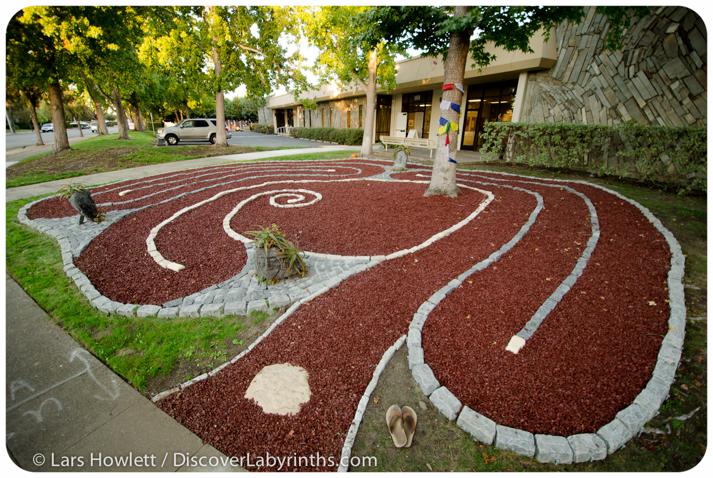 Rubber Mulch Labyrinth