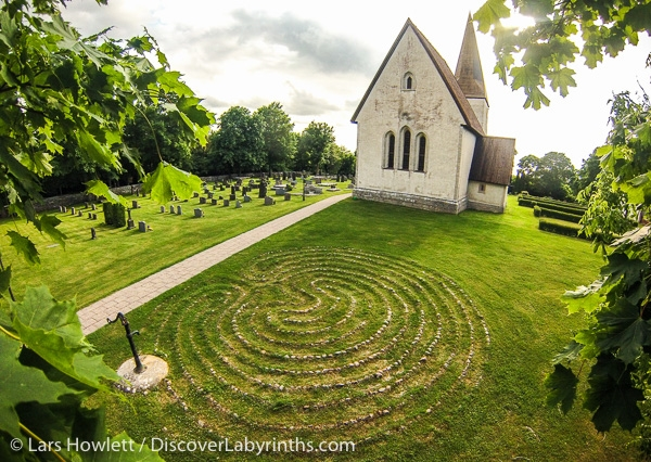 The labyrinth at Frojel on the island of Gotland in the Baltic Sea.