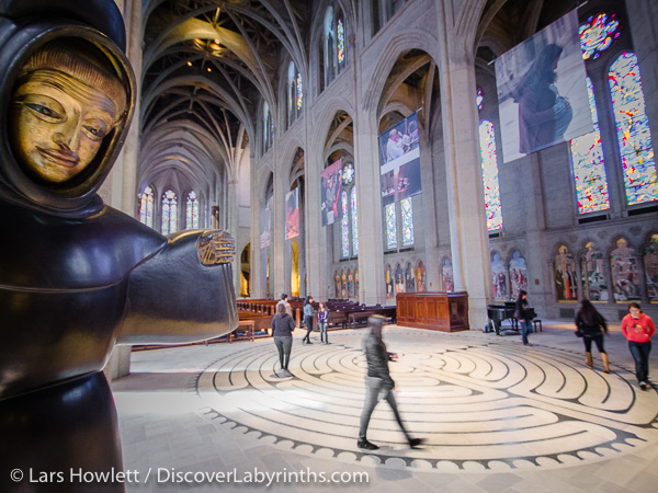 The labyrinth at Grace Cathedral in San Francisco, California.