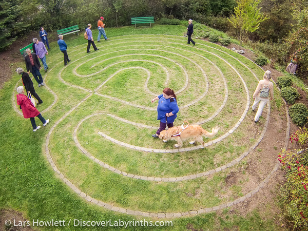 Classical Labyrinth at a hospital on Vancouver Island, Canada.