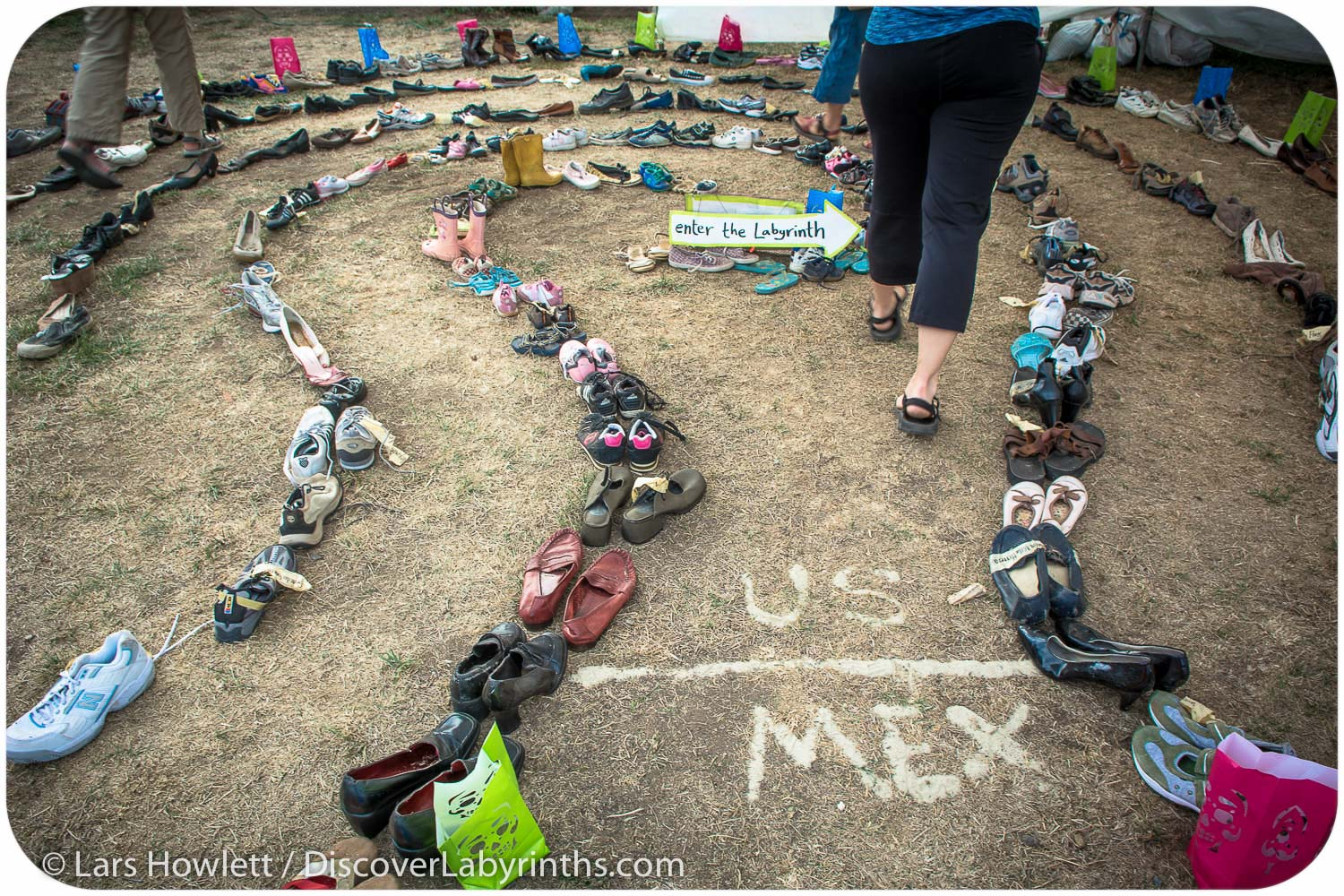 Migrant Shoe Labyrinth