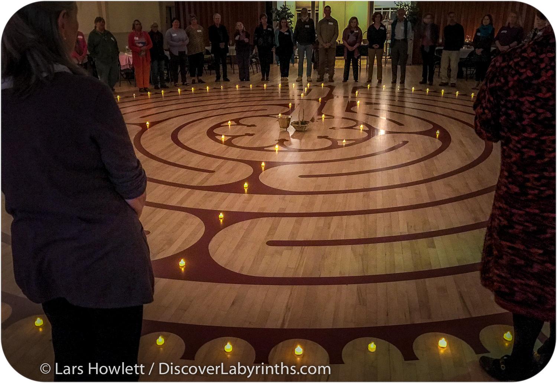 Wood Floor Labyrinth