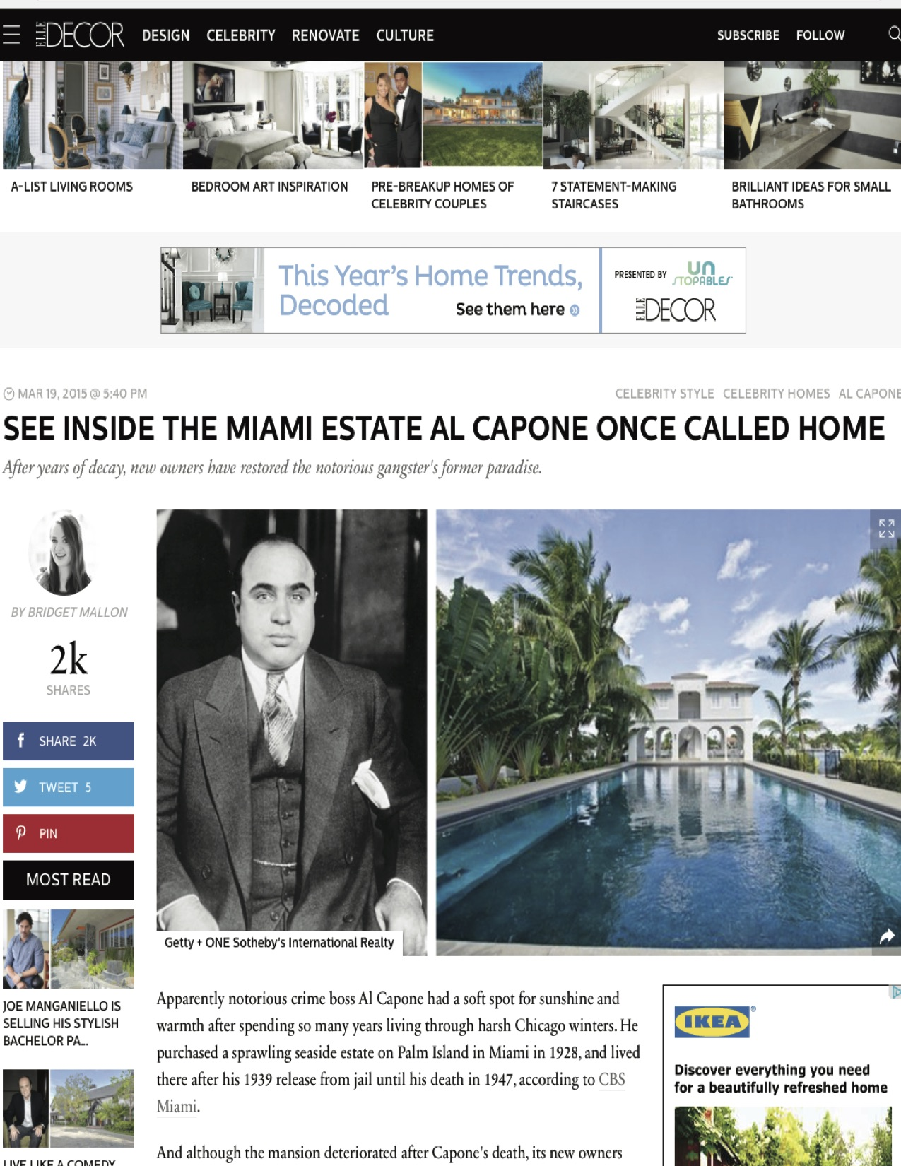"""<p><strong>Elle Decor</strong><a href=""""http://www.elledecor.com/celebrity-style/celebrity-homes/a7245/see-inside-al-capones-miami-estate/"""" target=""""_blank"""">View Article →</a></p>"""