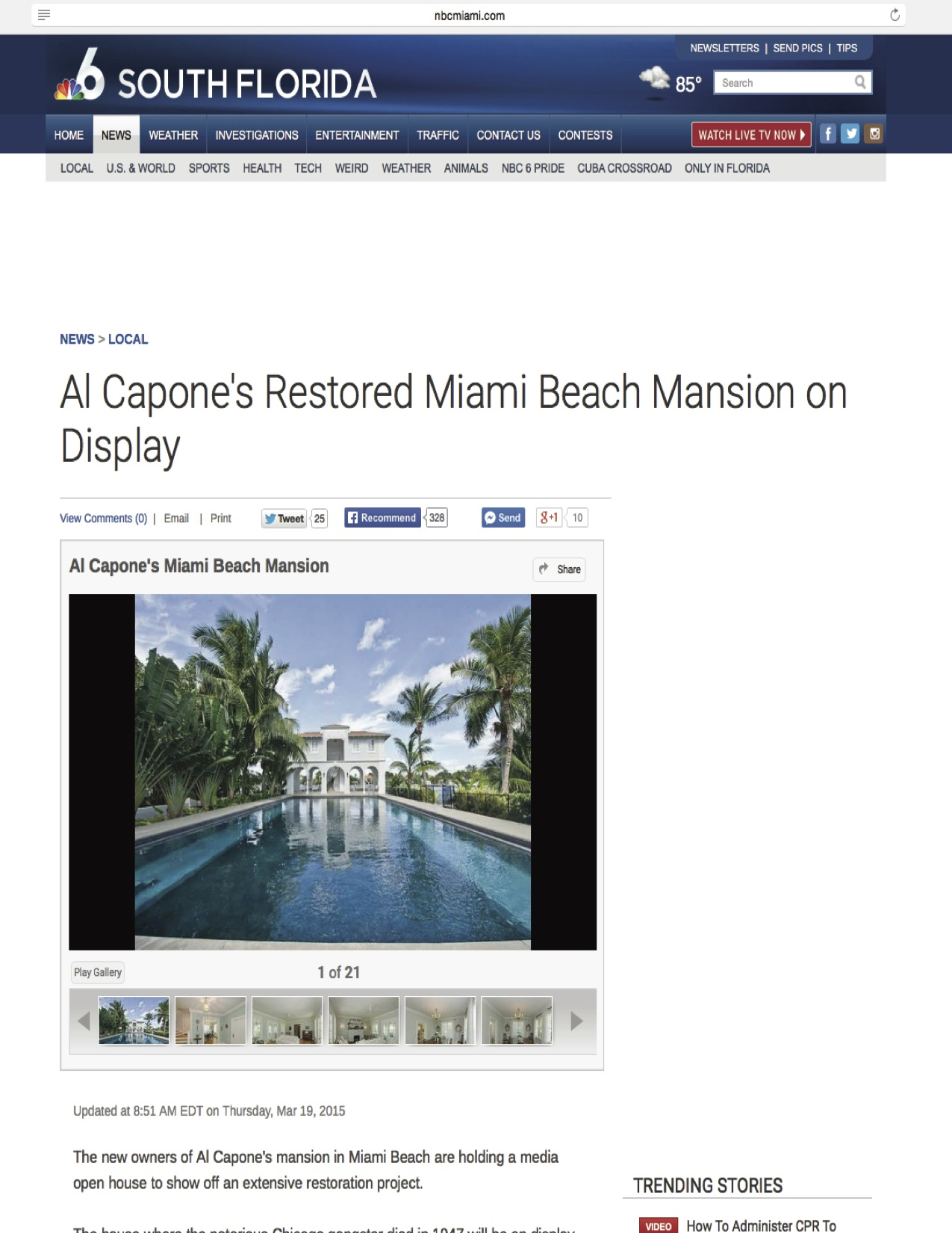 """<p><strong>NBC News</strong><a href=""""http://www.nbcmiami.com/news/local/Al-Capones-Restored-Miami-Beach-Mansion-On-Display-296724561.html#244633411"""" target=""""_blank"""">Watch Video →</a></p>"""