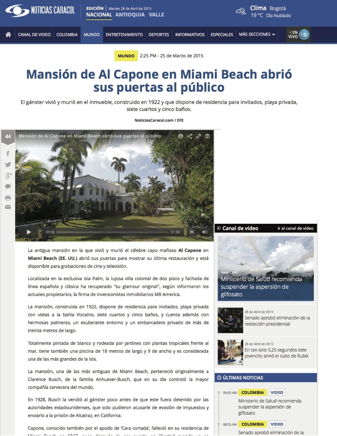 """<p><strong>Noticias Caracol</strong><a href=""""http://www.noticiascaracol.com/mundo/mansion-de-al-capone-en-miami-beach-abrio-sus-puertas-al-publico"""" target=""""_blank"""">Watch Video →</a></p>"""