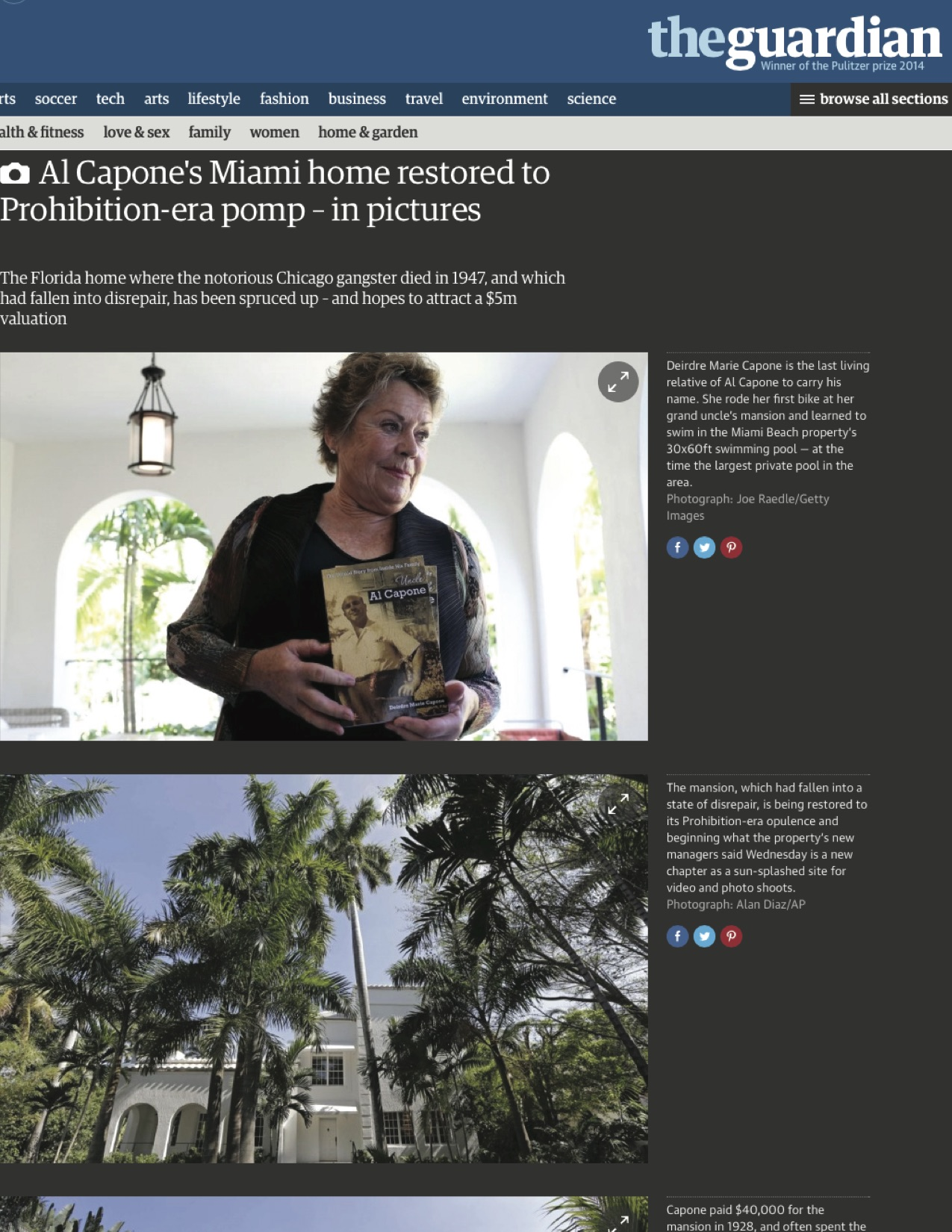 """<p><strong>The Guardian</strong><a href=""""http://www.theguardian.com/lifeandstyle/gallery/2015/mar/18/al-capone-miami-beach-home-restored"""" target=""""_blank"""">View Article →</a></p>"""